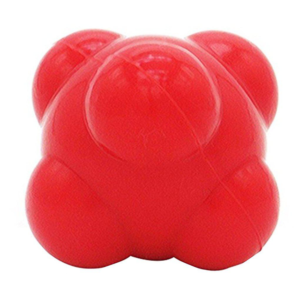 Hexagonal Reaction Ball Fitness Training Exercise Reaction Balls Sport Toy - RED