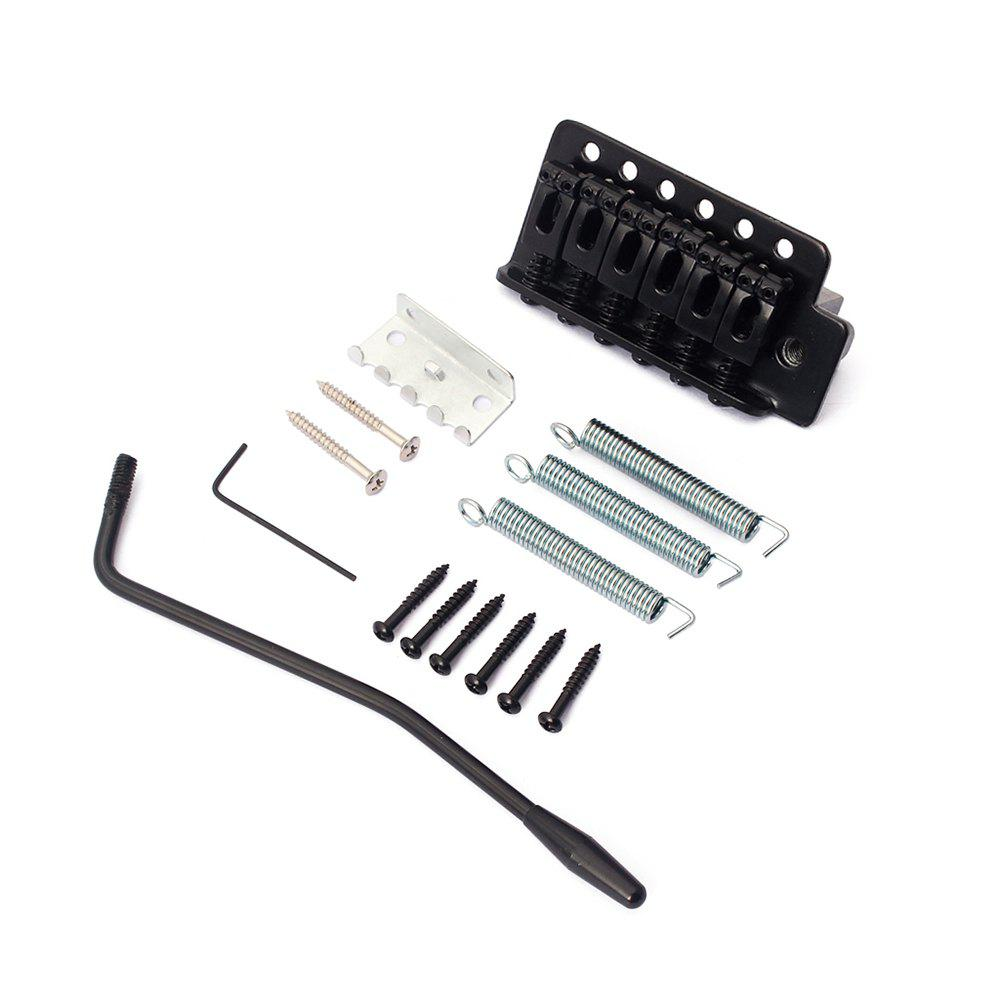 Metal Tremolo Bridge for Stratocaster Guitar - BLACK
