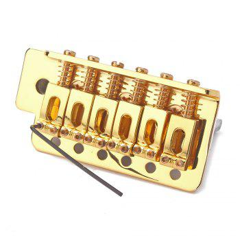 Electric Guitar Tremolo Bridge Single Locking System for Strat ST Style - GOLDEN