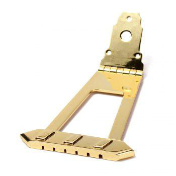 6 String Jazz Bass Guitar Trapeze Tailpiece Bridge - GOLDEN