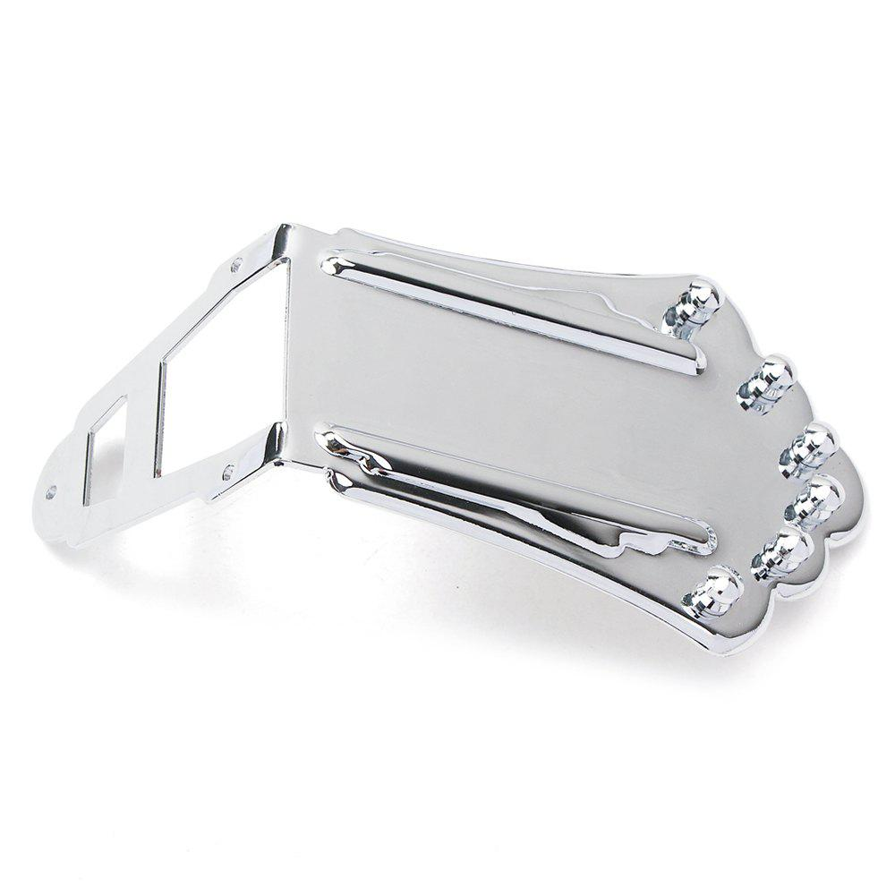 Jazz Guitar Bridge for Hollow Semi Electric Guitar - SILVER