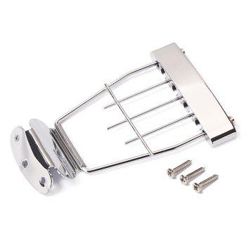 Jazz Four Strings Electric Bass String Bridge Tailpiece - SILVER