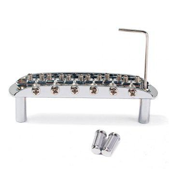 Electric Guitar Tremolo 6 String Bridge Assembly with Wrench - SILVER