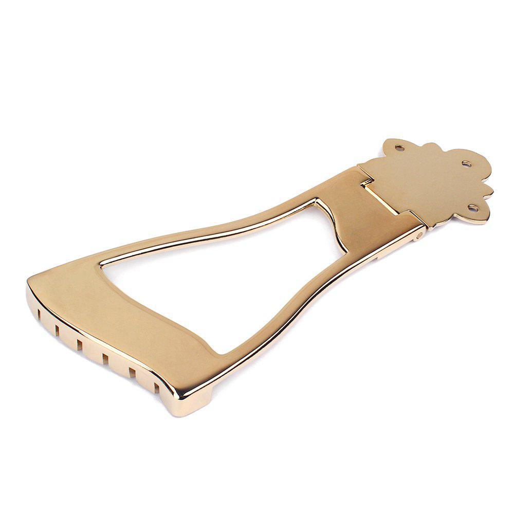 1Pc Jazz Bridge Tailpiece For Hollow Body Archtop Guitar - GOLDEN