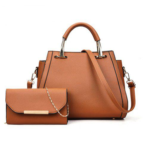 Simple Wild Hand Messenger Shoulder Large Capacity Handbags - BROWN