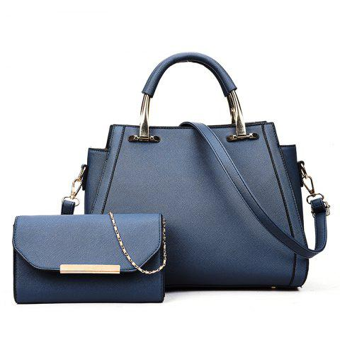 Simple Wild Hand Messenger Shoulder Large Capacity Handbags - BLUE