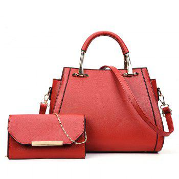 Simple Wild Hand Messenger Shoulder Large Capacity Handbags - RED RED