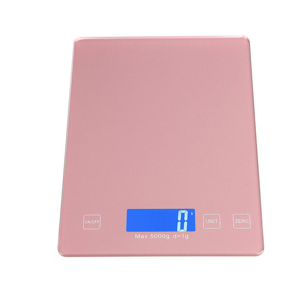 Ty-31 Waterproof Luminous Screen Thin High-Precision Kitchen Scale - ROSE GOLD