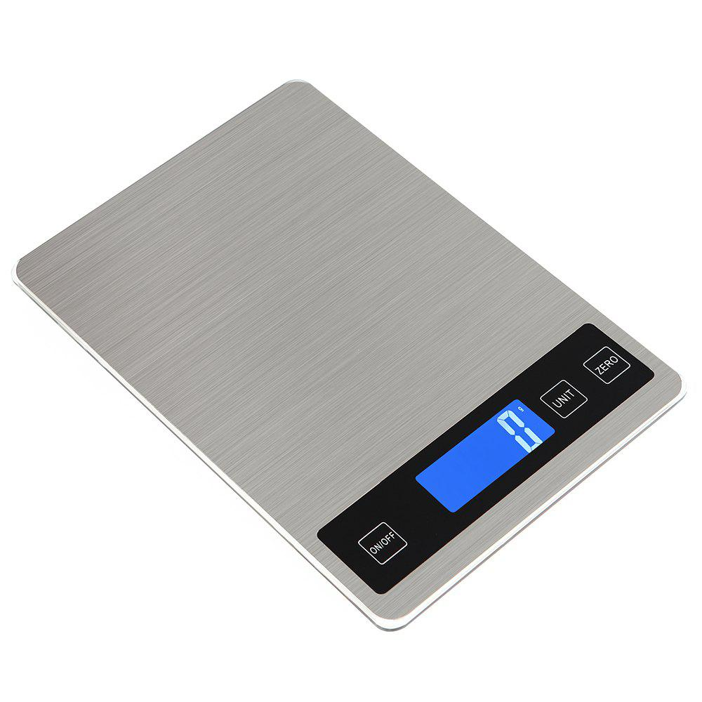 Ty-31 Waterproof Luminous Screen Thin High-Precision Kitchen Scale - SILVER WHITE