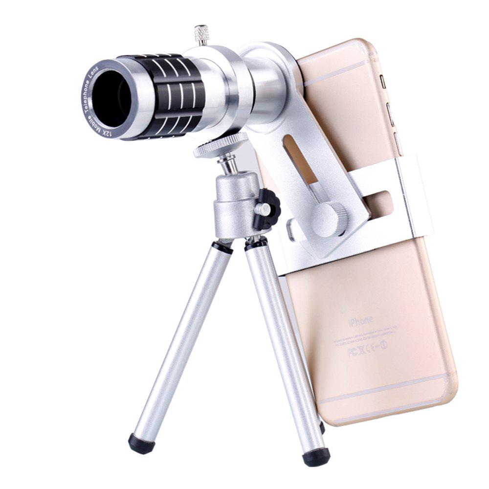 Ty-20 The Adjustable Focal Length Telephoto Lens Phone - SILVER WHITE