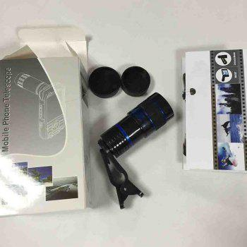 Ty-36 Plastic Blue 8 Times The Phone Lens - BLACK/BLUE