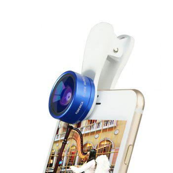 Ty-21 Fisheye Wide-Angle Macro Camera Lens - BLUE