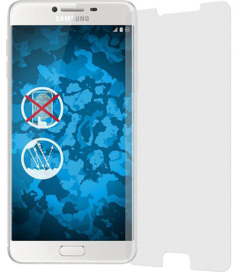2PCS Screen Protector for Samsung Galaxy C7/C7 Pro HD Full Coverage High Clear Premium Tempered Glass - TRANSPARENT