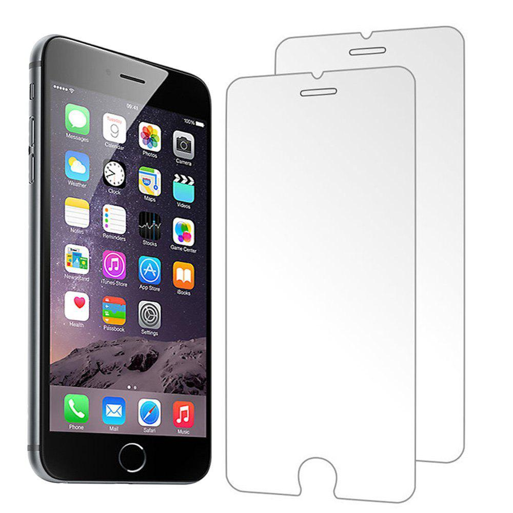 2PCS Screen Protector for Iphone 6/6S HD Full Coverage High Clear Premium Tempered Glass - TRANSPARENT