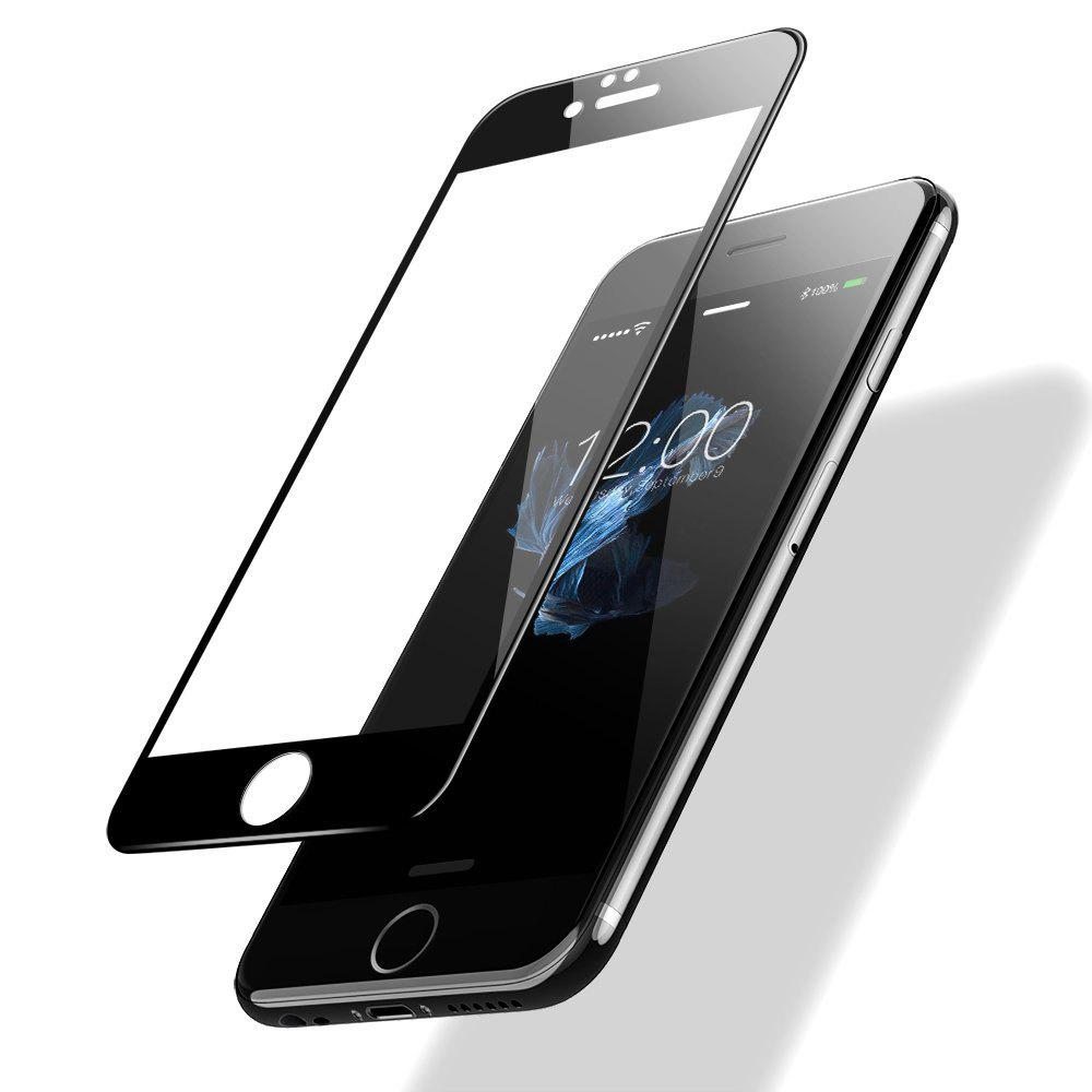 2PCS Screen Protector for IPhone 6/6S Black HD 3D Full Coverage High Clear Premium Tempered Glass - BLACK