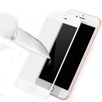 2PCS Screen Protector for IPhone 6 Plus/6s Plus HD 3D Full Coverage High Clear Premium Tempered Glass - WHITE
