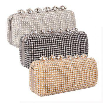 Women Bags Glasses Evening Bag Rhinestone Sparkling Glitter for Wedding Event/Party - GOLDEN