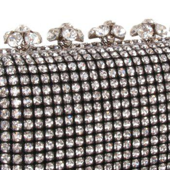 Women Bags Glasses Evening Bag Rhinestone Sparkling Glitter for Wedding Event/Party - BLACK