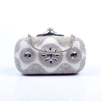 Women Bags Poly Urethane Evening Bag Crystal/ Rhinestone for Wedding Event/Party - SILVER SILVER