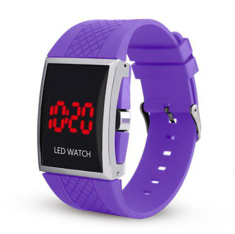 LED Digital  Military Outdoor Rectangle Unisex Electronic Casual Men Watch - DAHLIA