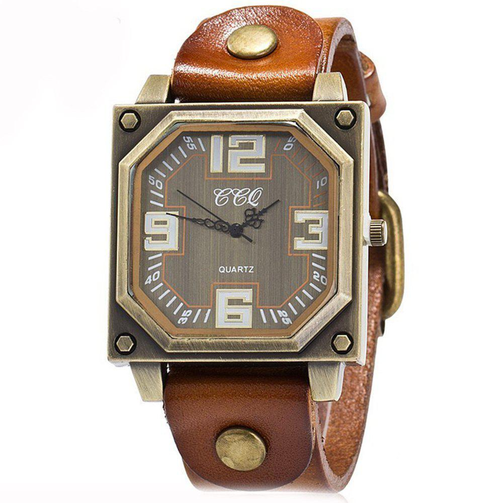 New Men Specially Brand Classic Analog Military Simple Quartz Wrist Watches - BROWN