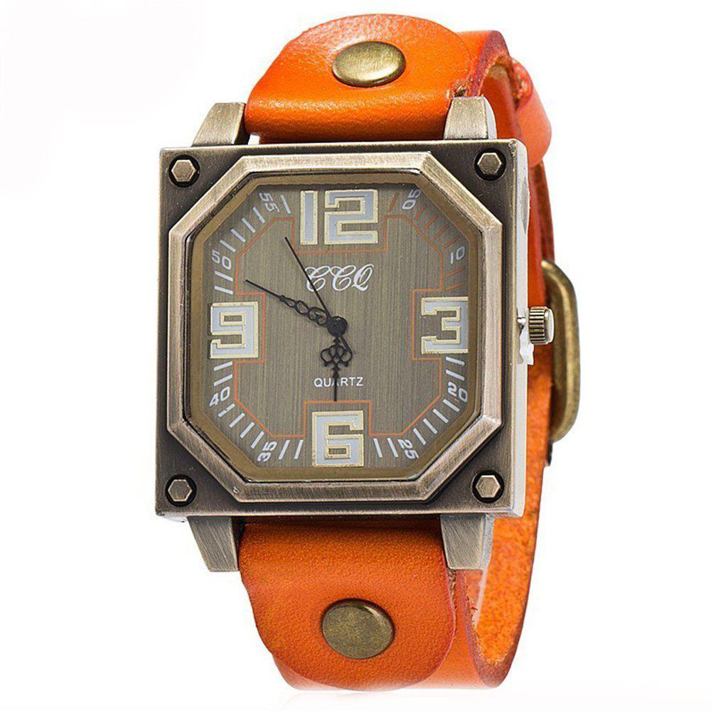 New Men Specially Brand Classic Analog Military Simple Quartz Wrist Watches - ORANGE