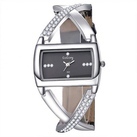 Women Hollow Out Personalized Design Exquisite Chic Watch - BLACK