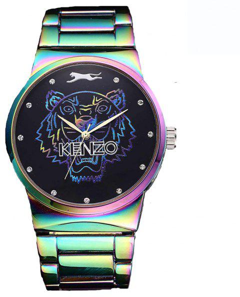 Men Quartz  Colorful Band Personality Stainless Steel Watch - IVY