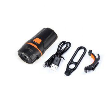 UltraFire UF - HT205 LED 300LM 6-Speed USB Charging Bicycle Light -  BLACK