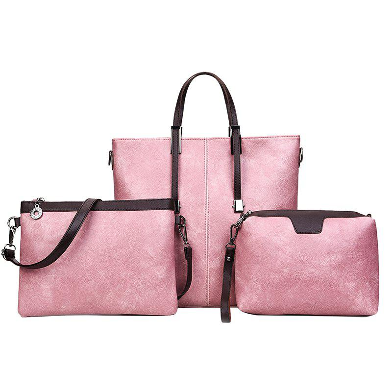 Shoulder Bag Retro Simplicity Simple High-Volume Tote Bag - PINK