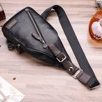 POLSKI Send Wallet Casual Men'S Shoulder Couple Sports Messenger Trend Chest Bag - BLACK