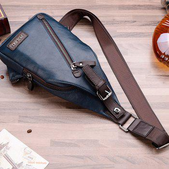 POLSKI Send Wallet Casual Men'S Shoulder Couple Sports Messenger Trend Chest Bag -  BLUE