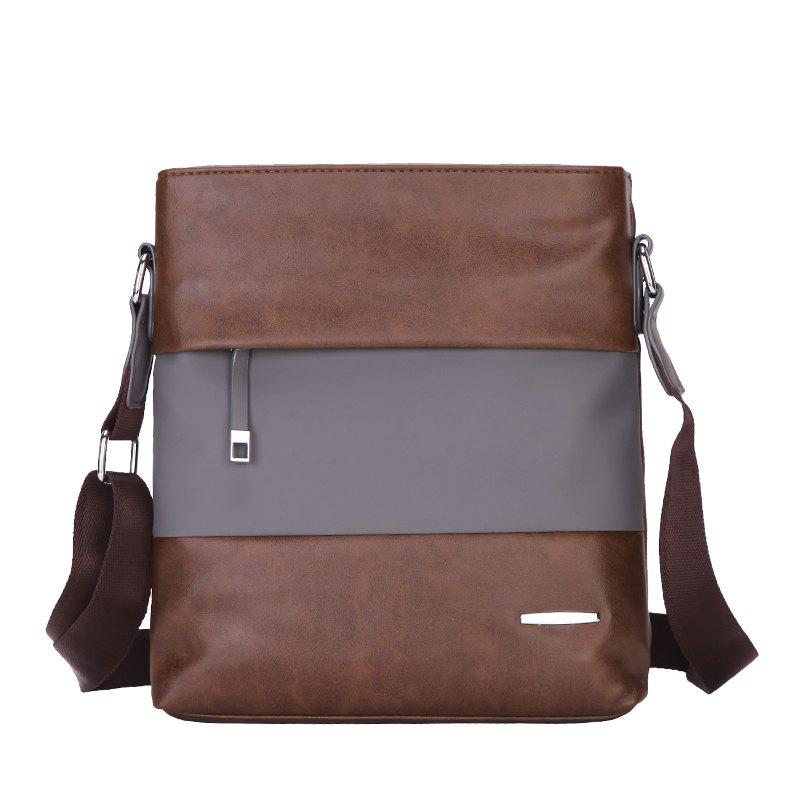 New Shoulder Bag Korean Casual Bag Shoulder Bag Sports Fashion Men'S Messenger Bag - BROWN