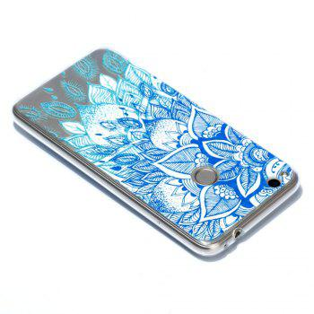 for Huawei P8 Lite 2017 Blue Leaves Painted Soft Clear TPU Phone Casing Mobile Smartphone Cover Shell Case - BLUE