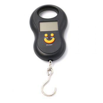 Gourd Shaped Portable Electronic Scale Portable Mini Electronic Hook Scale Express Luggage Scale Baggage Weighing 50KGx1 - BLACK