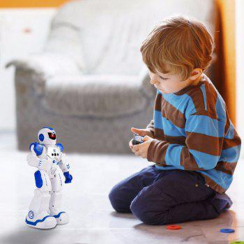 Remote Control Intelligent Robot Gesture Sensing Programming Charging Children Dancing Fighting Defentor Boys Gift - WHITE