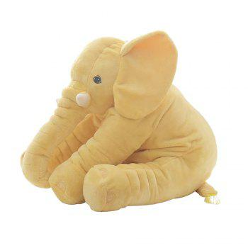 40cm Infant Soft Appease Elephant Playmate Calm Doll Baby Toy - YELLOW YELLOW