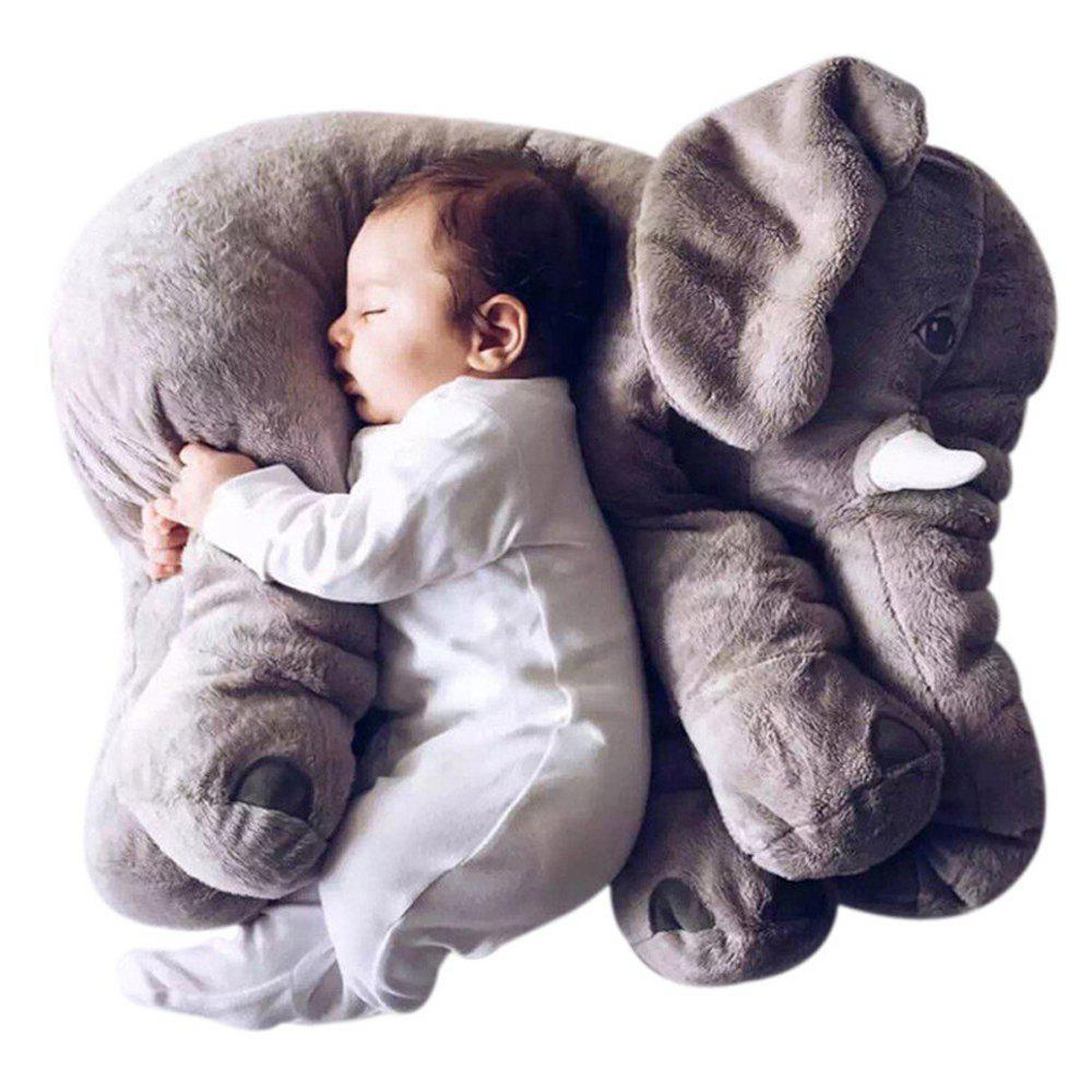 40cm Infant Soft Appease Elephant Playmate Calm Doll Baby Toy - GRAY 40CM / 15.8 INCH