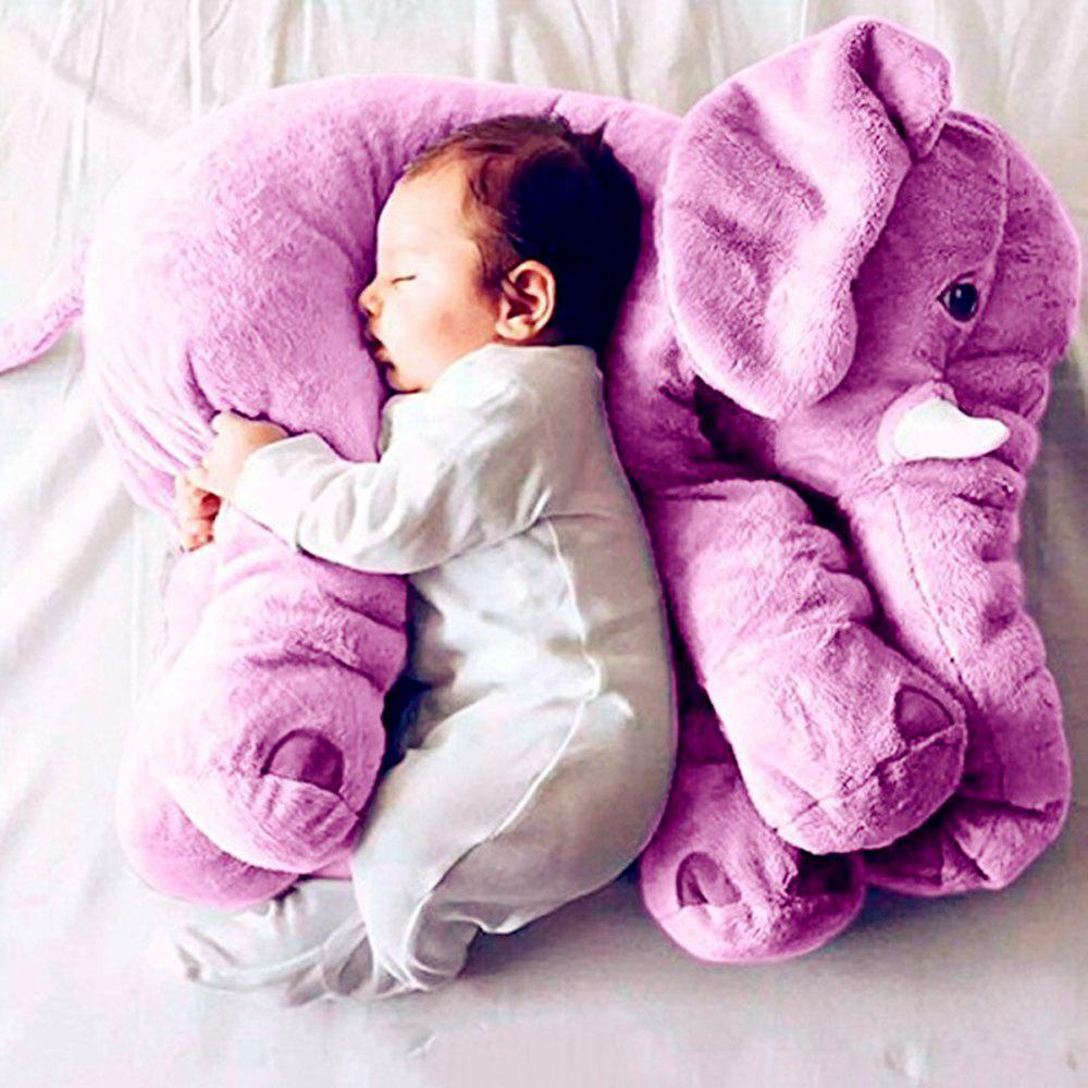 40cm Infant Soft Appease Elephant Playmate Calm Doll Baby Toy - PURPLE 40CM / 15.8 INCH