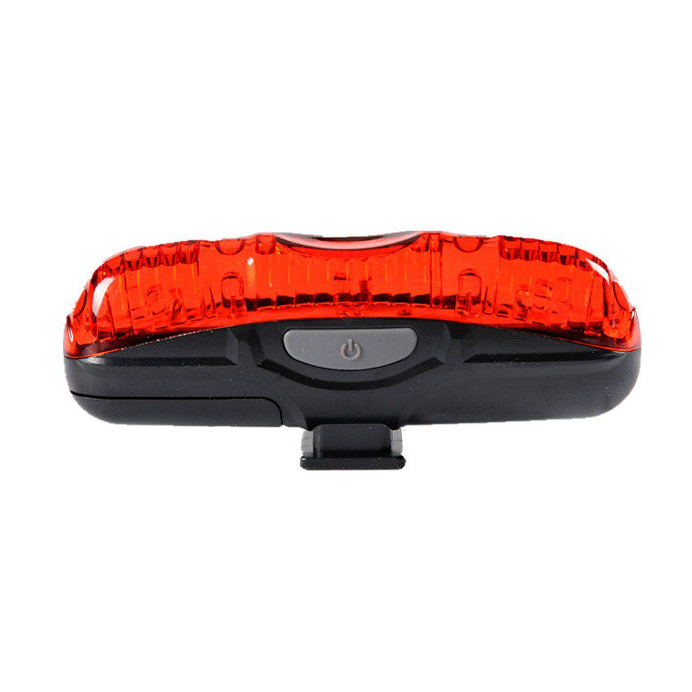 LEADBIKE Waterproof Bike Rear Light Cycling Safety Warning Lamp Bicycle Taillight - RED