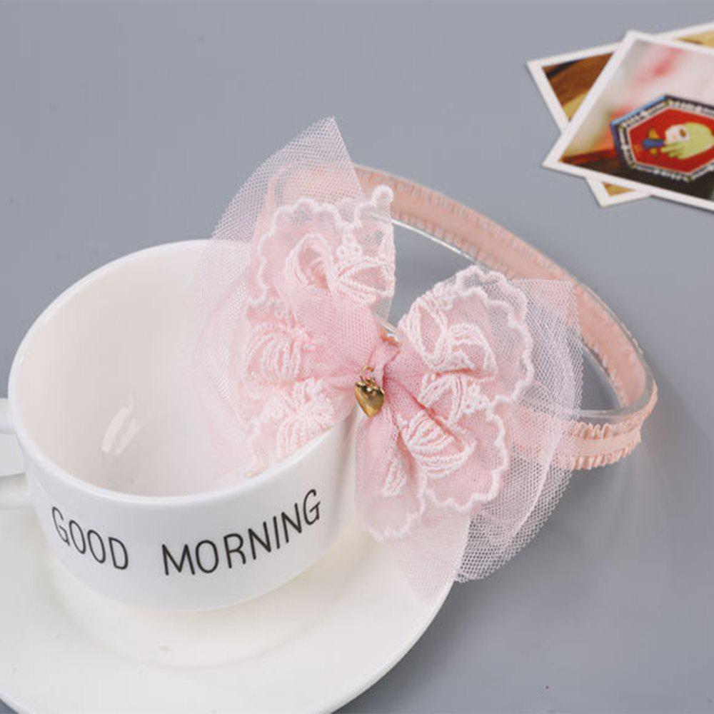Lace Bowknot Children's Hair Band - PINK