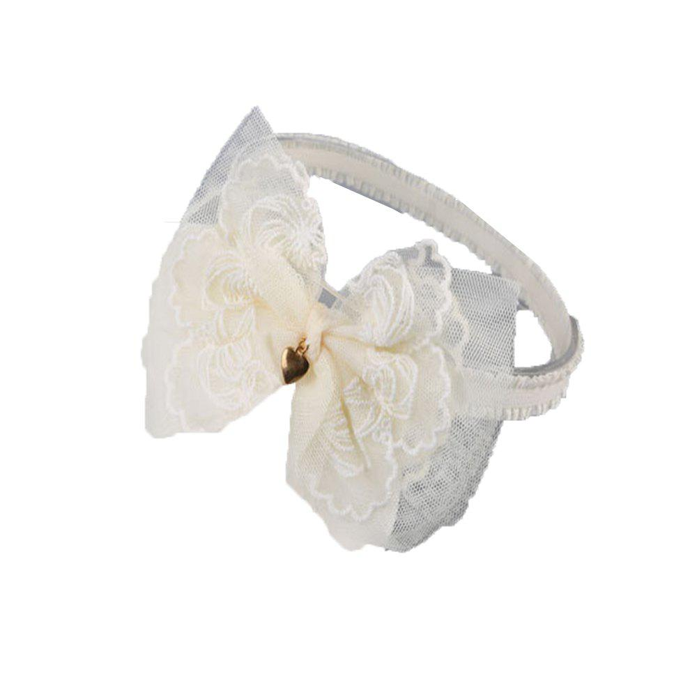 Lace Bowknot Children's Hair Band - BEIGE