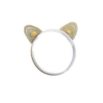 Three-dimensional Cat Ears Gold Embroidery Children's Three-dimensional Cat Ears Gold Embroidery Children's Hair Band - GOLDEN GOLDEN