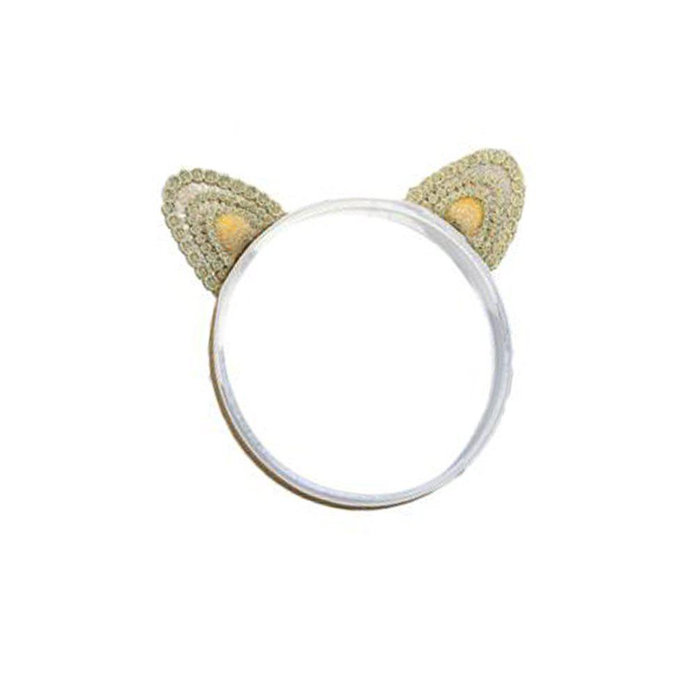 Three-dimensional Cat Ears Gold Embroidery Children's Three-dimensional Cat Ears Gold Embroidery Children's Hair Band - GOLDEN