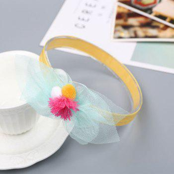 Chiffon Ball Cute Children Hair Band -  YELLOW