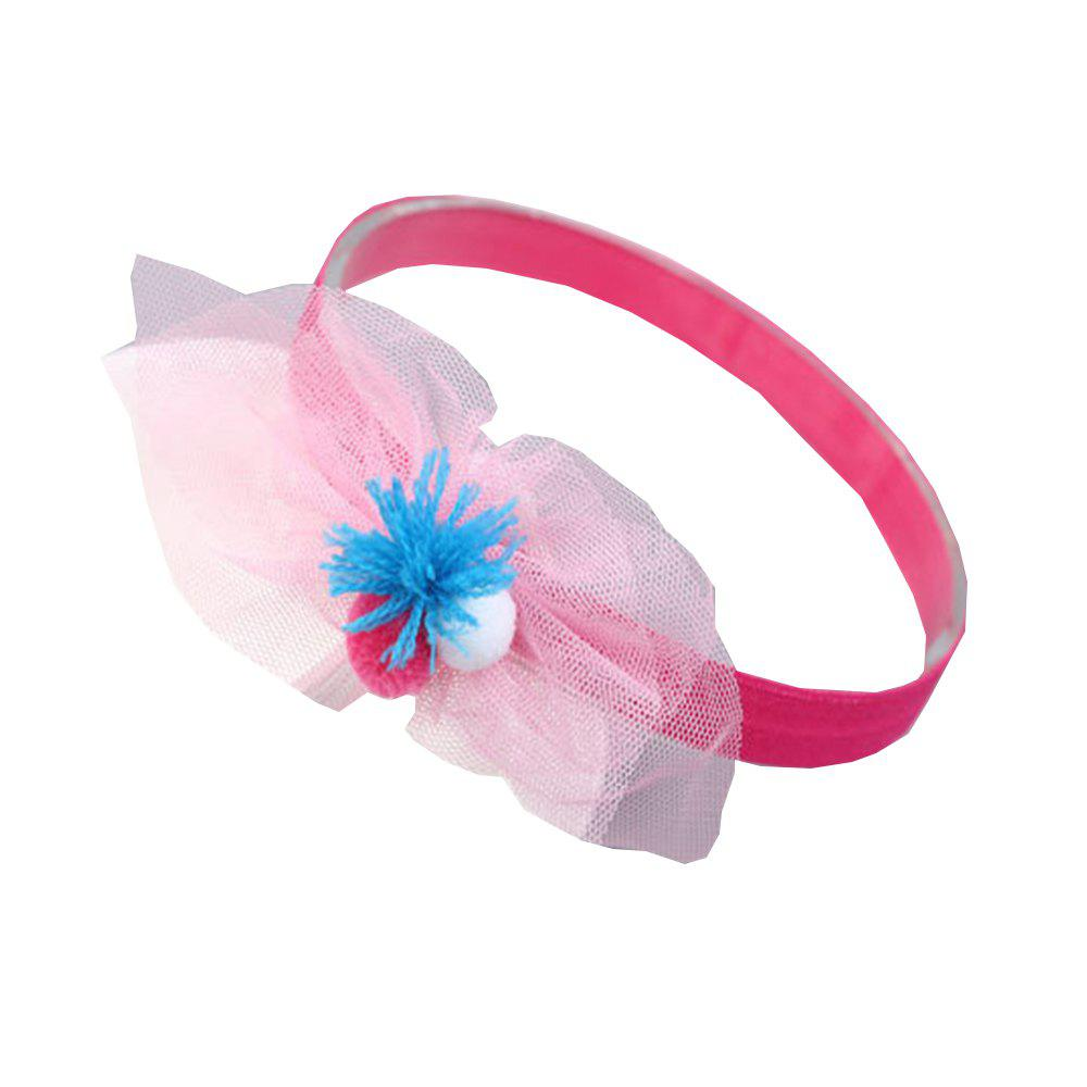 Chiffon Ball Cute Children Hair Band - ROSE RED