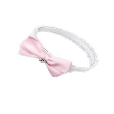 Crown Bow Tie Princess Hair Band - PINK