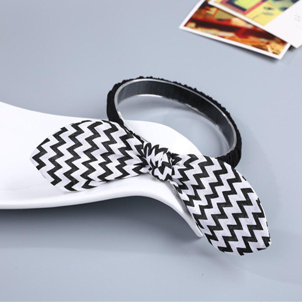 Wavy Striped Bunny Ears for Children Hair Band - WHITE