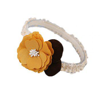 Fashion Flower Children Hair Band - YELLOW YELLOW