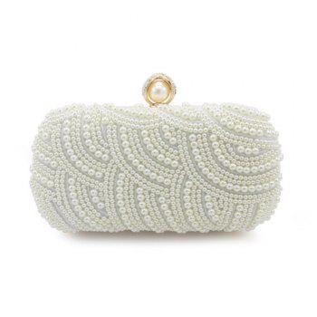 Handbags Clutches With Pearls For Wedding Special Occasion in More Colors - BEIGE BEIGE